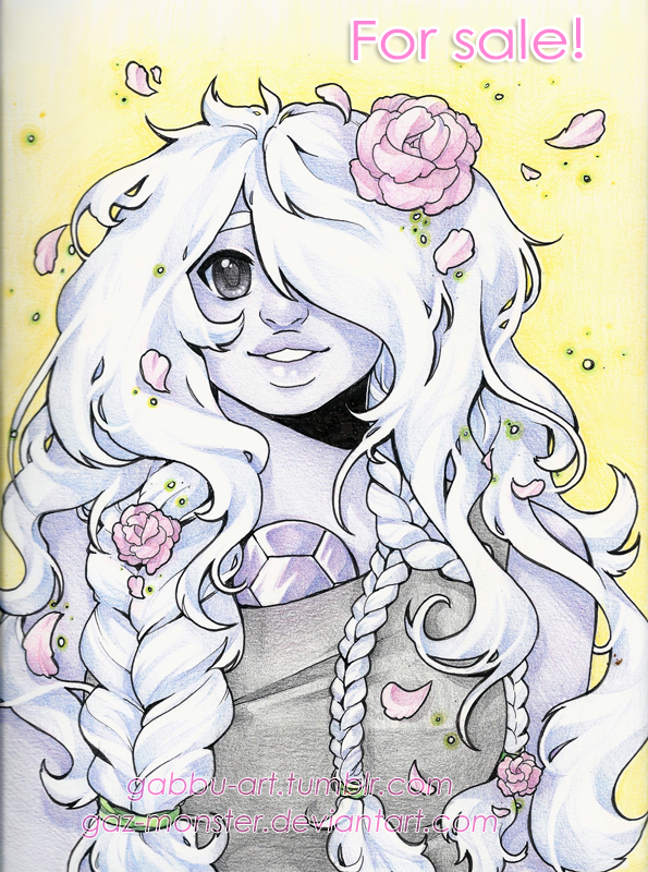 Amethyst, colored pencils-- for sale! by Gaz-Monster