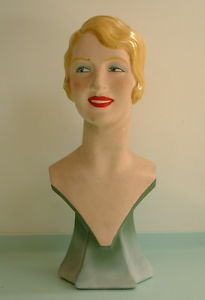 Rare 1930 S Plaster Female Mannequin Head Store Shop Display Mannequins Vintage Mannequin Mannequin Heads