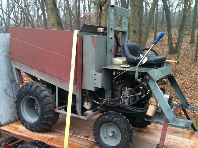 Garden Tractor Steering : Modified garden tractor by mike belben homemade