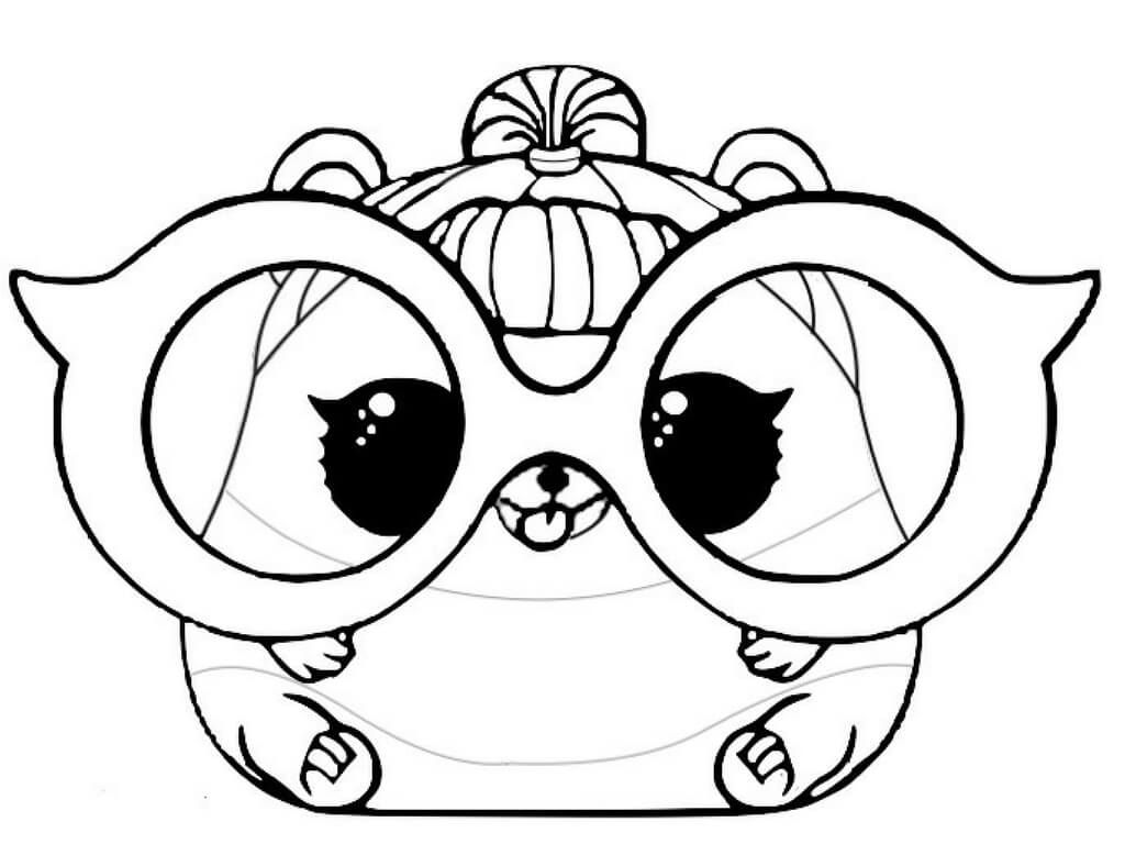 Lol doll coloring pages pets ~ LOL Pets Coloring Pages Free Printable Trouble Squeaker ...