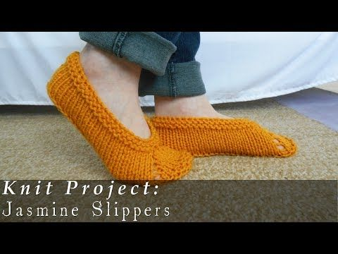 Knitted Slippers For Beginners Free Knitting Video For Unisex