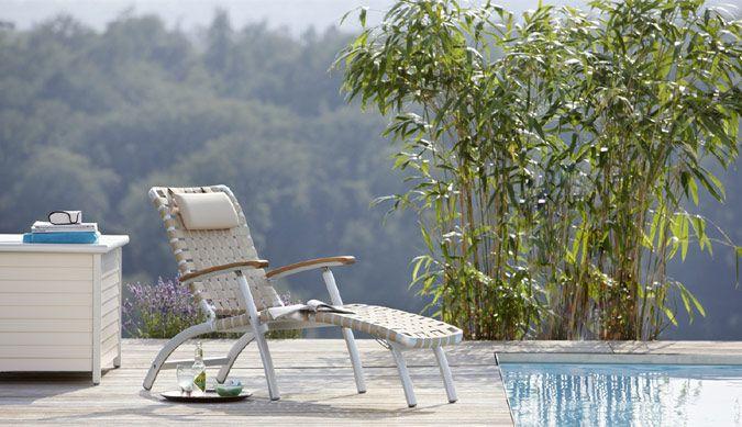 Garpa De garpa deck chair aus hochwertigem gurtgeflecht aus der serie
