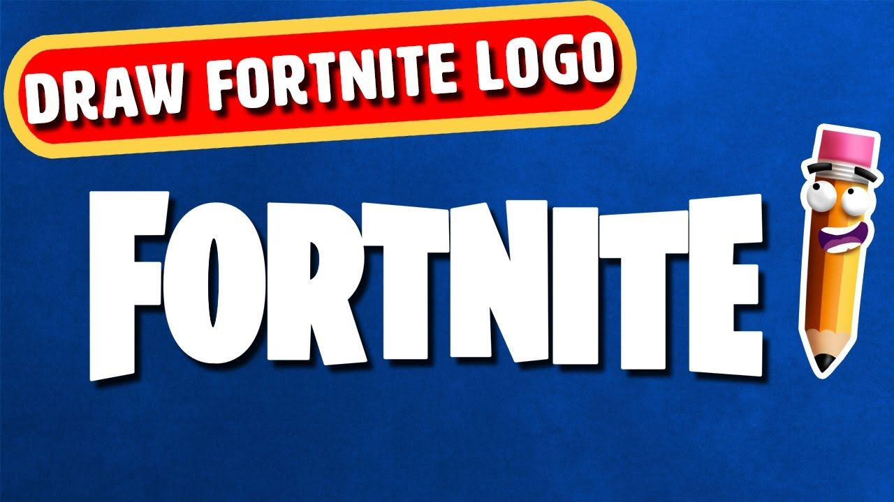 how to draw fornite logo step by step arty corner - how to draw fortnite logo