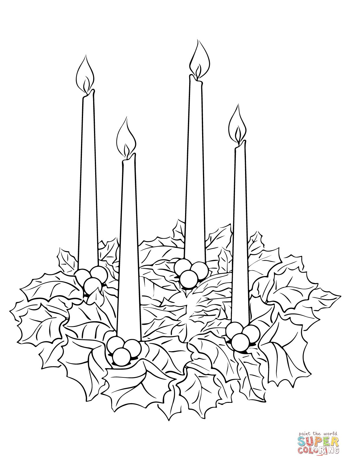 christmas wreaths colouring pages - Google Search | holidays ...