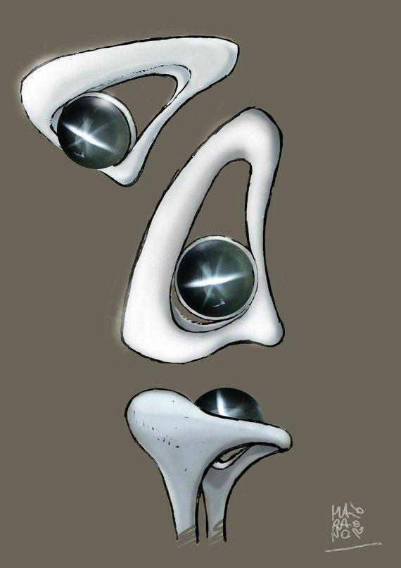 Anello in argento 925 con diopside di oreficeriAlternativa su Etsy