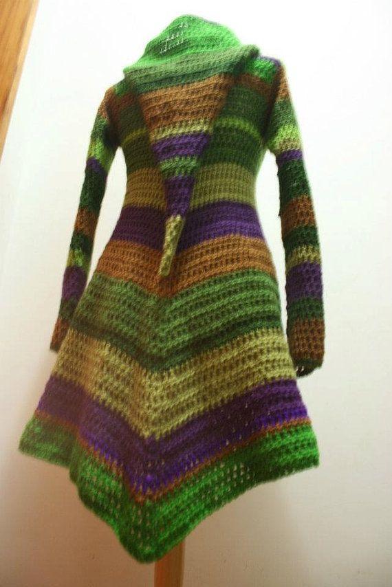 Pixie Mantel Mit Ovalen Holzknöpfe Im Vorderen Gleichen Modell Wie