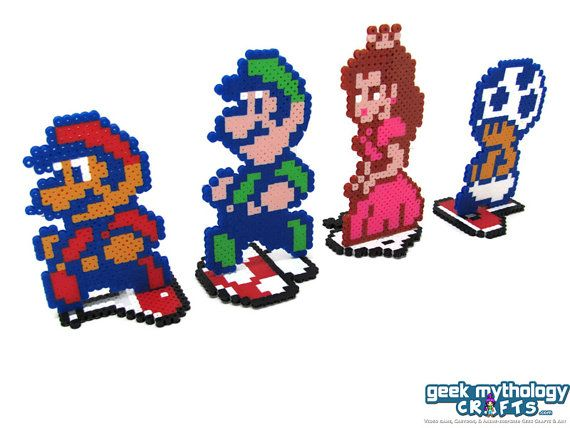 Super Mario Bros 2 Perler Pixel Bead Sprite By Geekmythologycrafts