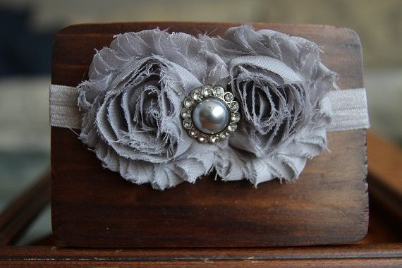 Shabby Chic HeadbandBaby Girls headband Infant by YourFinalTouch
