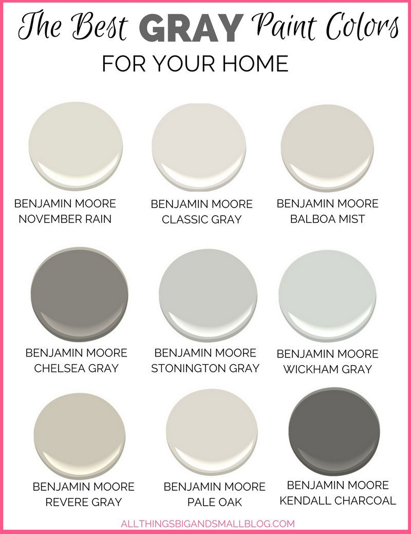 Gray Paint Colors for Your Home - (Best Benjamin Moore Gray Paint)
