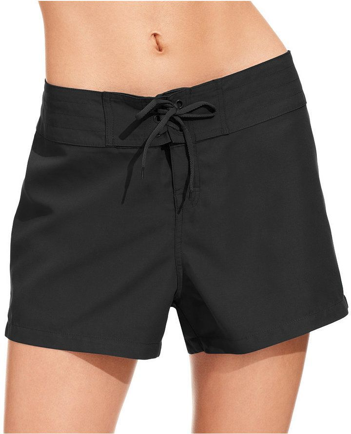 bc90534ae54 Island Escape Tie-Front Board Shorts, Created for Macy's Women's Swimsuit