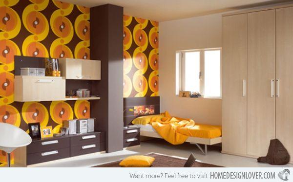 Retro Bedroom Design Amazing 15 Funky Retro Bedroom Designs  Retro Wallpaper Retro Bedrooms Inspiration