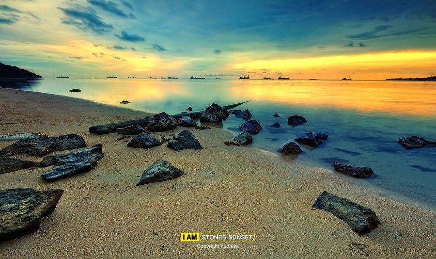 Sunset in Nirwana Beach Padang_ Indonesia
