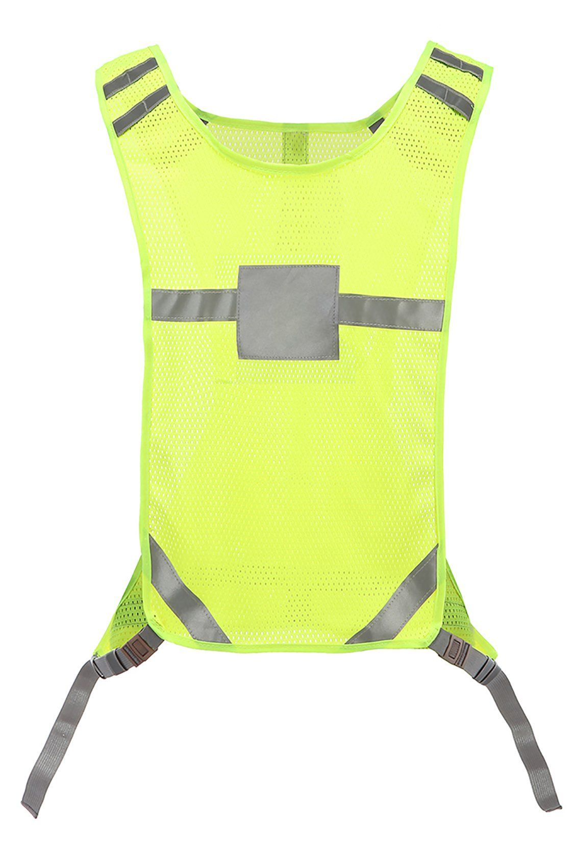 red safety vest with pockets