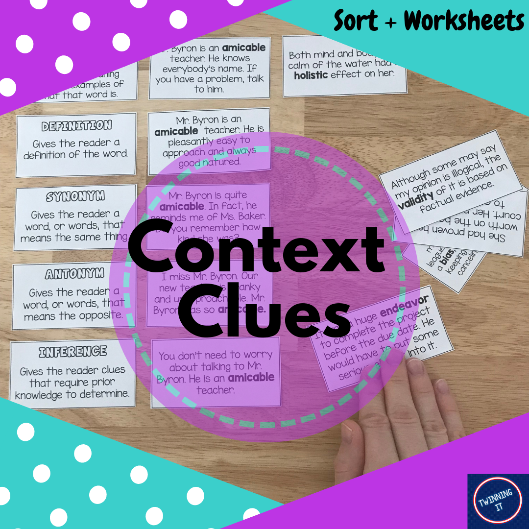 Context Clues Sort Worksheets