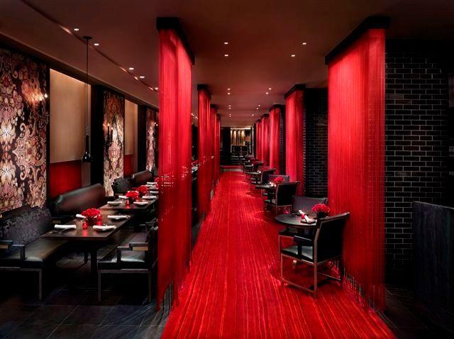 Pro restaurant decoration interieur interior for Interieur rouge