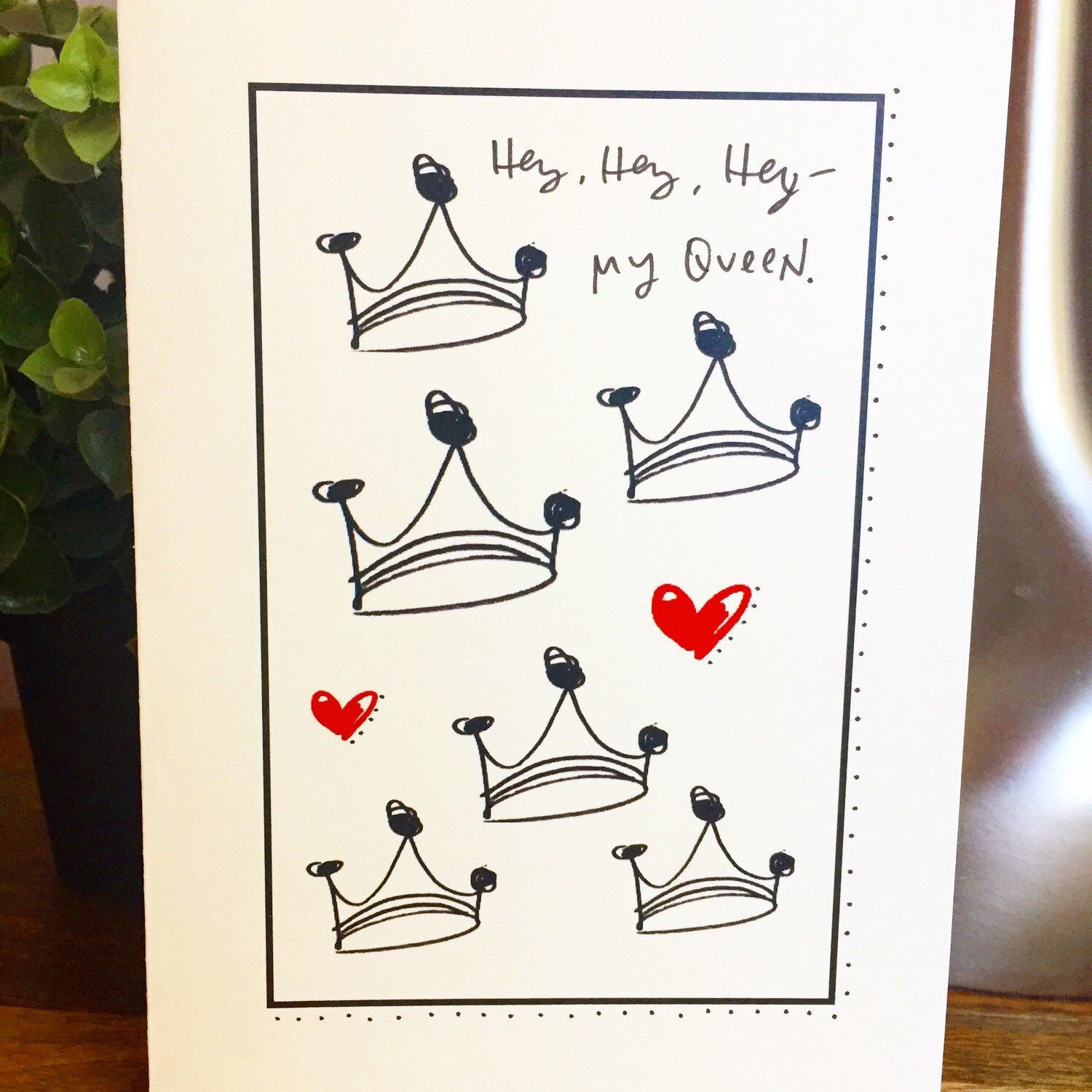 New Card In The Etsyshop For Them Queens Out There Wedding Anniversary Cards Anniversary Cards Cards