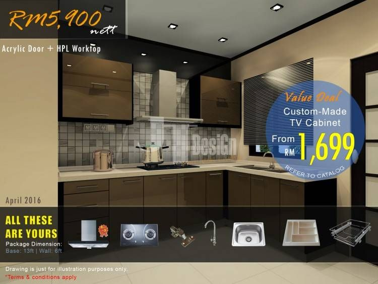 Kitchen Cabinets Malaysia In 2020 Kitchen Cabinets Aluminum Kitchen Cabinets Kitchen Sale