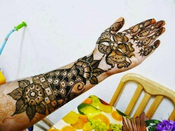 Fresh Mehndi Design Image for Full Hands