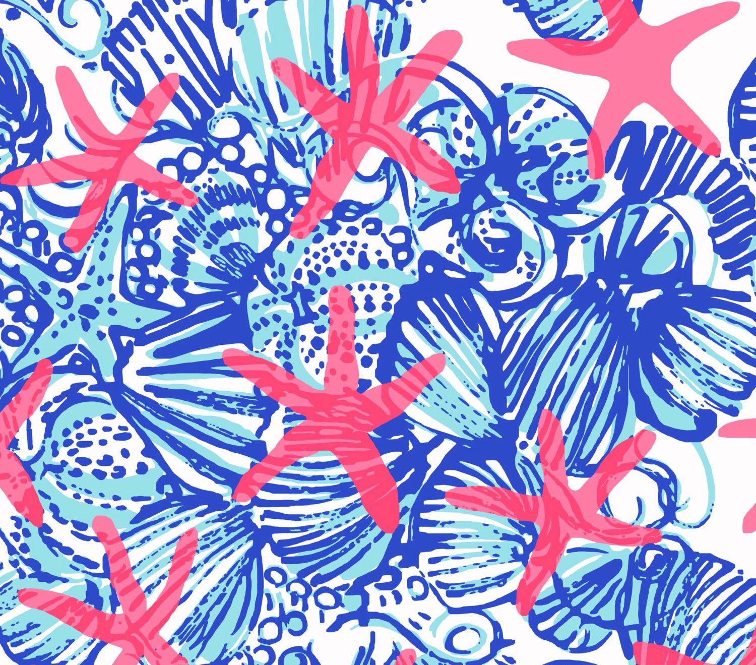 Lilly Pulitzer Fabric 18 X 18 Or 1 Yard Lilly Pulitzer Fabric She She Shells Large