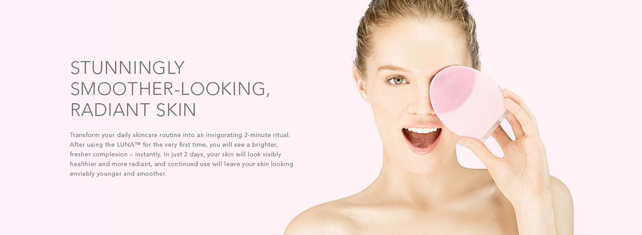Luna 2 Banner Facial Cleansing Brush Foreo Beauty Brand