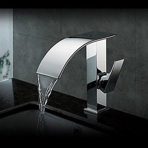 Design Waschtisch Wasserfall Armatur Wasserhahn Waschtischarmatur