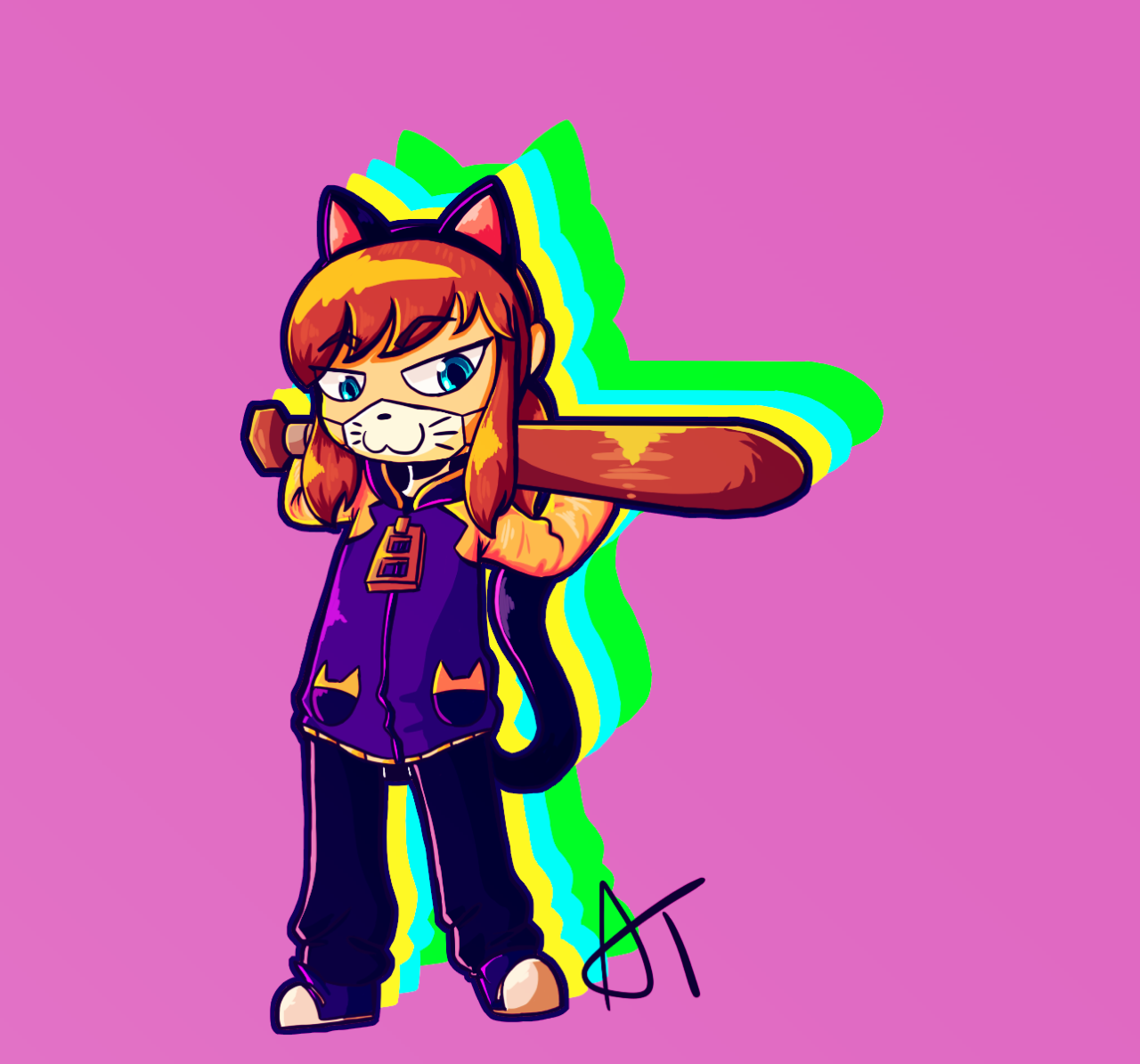 I can't believe it's not rubber! A hat in time, Cat face