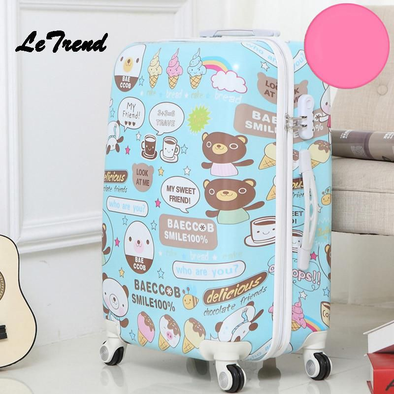 Nice Cute Cartoon Student Rolling Luggage Spinner Children Butterfly Trolley Suitcase Wheels Kids Carry On Travel Bag Women Suitcase Luggage & Travel Bags