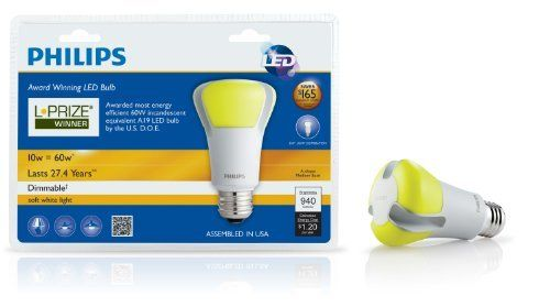 Philips 423244 10 Watt 60 Watt L Prize Award Winning Led Light Bulb By Philips 49 97 Http Www Letrasdecanciones365 Com Detailp Led Light Bulb Philips Bulb
