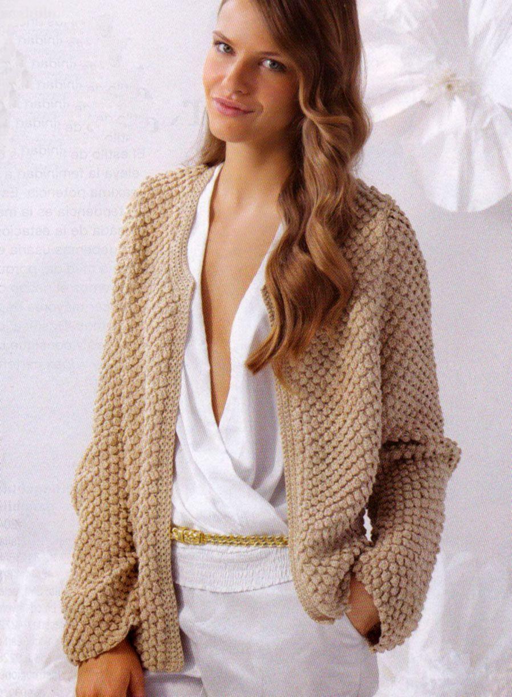 online para la venta estilo único fabricación hábil Chaqueta | Para mi | Crochet cardigan, Crochet jacket y Knit ...