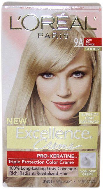 Unisex L Oreal Paris Fade Defying Color 9a Light Ash Blonde Light Ash Blonde Cool Blonde Hair Ash Blonde