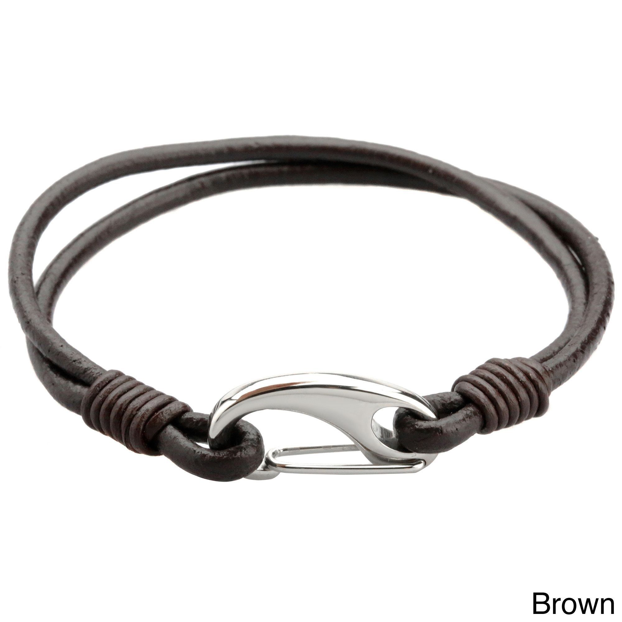 This Fashionforward Bracelet For Men Showcases A Stainless Steel Lobster  Claw Clasp On A