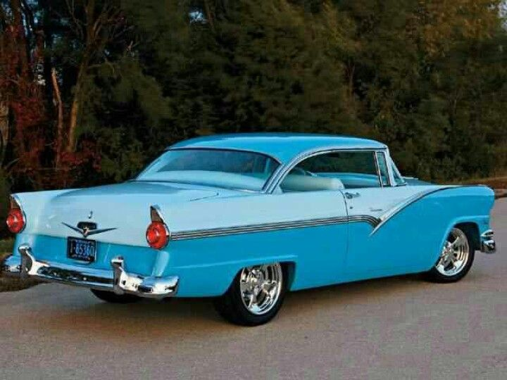 56 Ford Fairlane Hardtop Lowered In Front Newer Wheels Tires