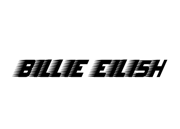 Billie Eilish Racer Font Grafis