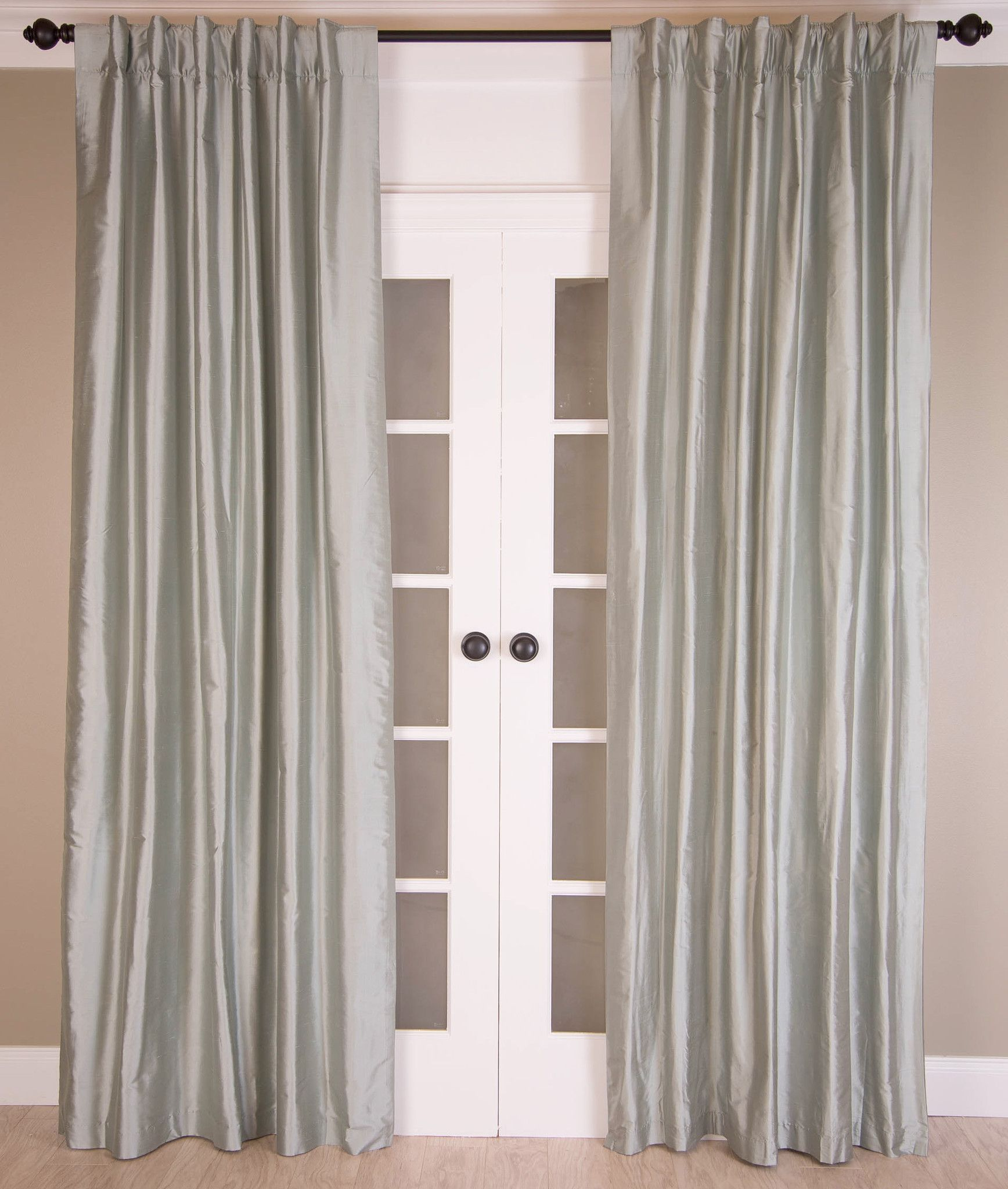 ds blue drapes silk water thai curtain half grey price curtains