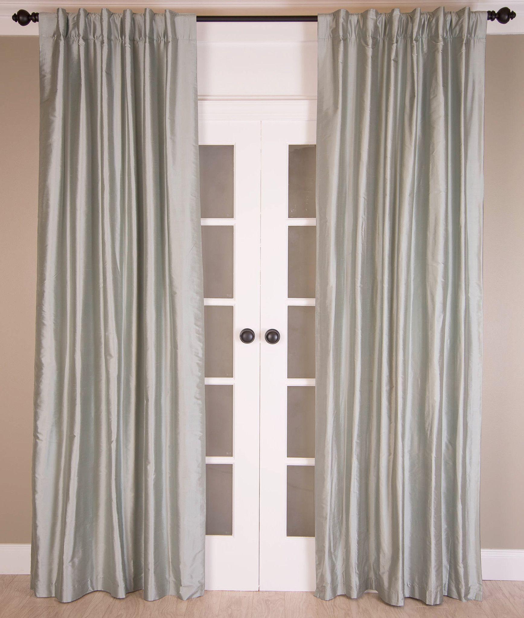 drapes amazon faux curtain curtains emerald green silk