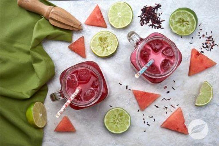 Watermelon Hibiscus Cooler Recipe