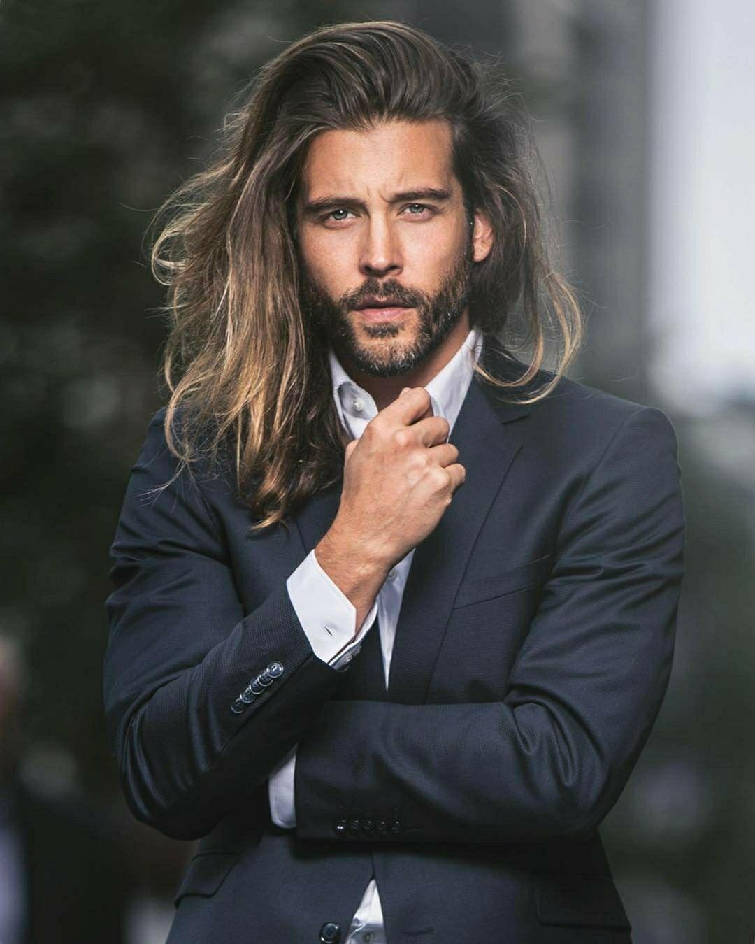 Jack Greystone  Long hair beard, Cool hairstyles for men, Long