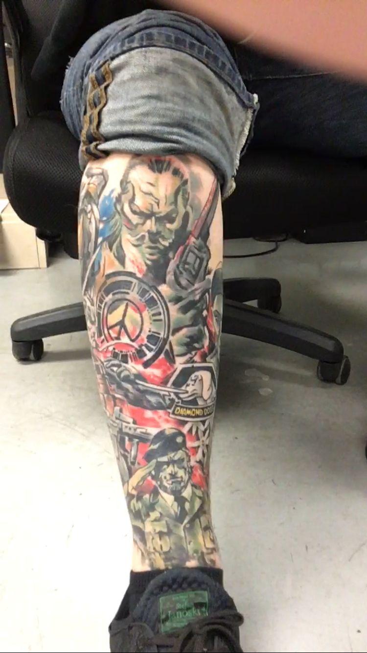 Metal Gear Solid Collage Tattoo Tattoos Gear Tattoo Metal Gear