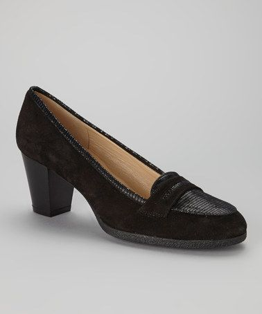 Take a look at this Black Suede Nesia Loafer by Amalfi on #zulily today!
