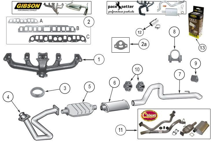 Exhaust    System Parts for Wrangler    YJ         Jeep       YJ    Parts