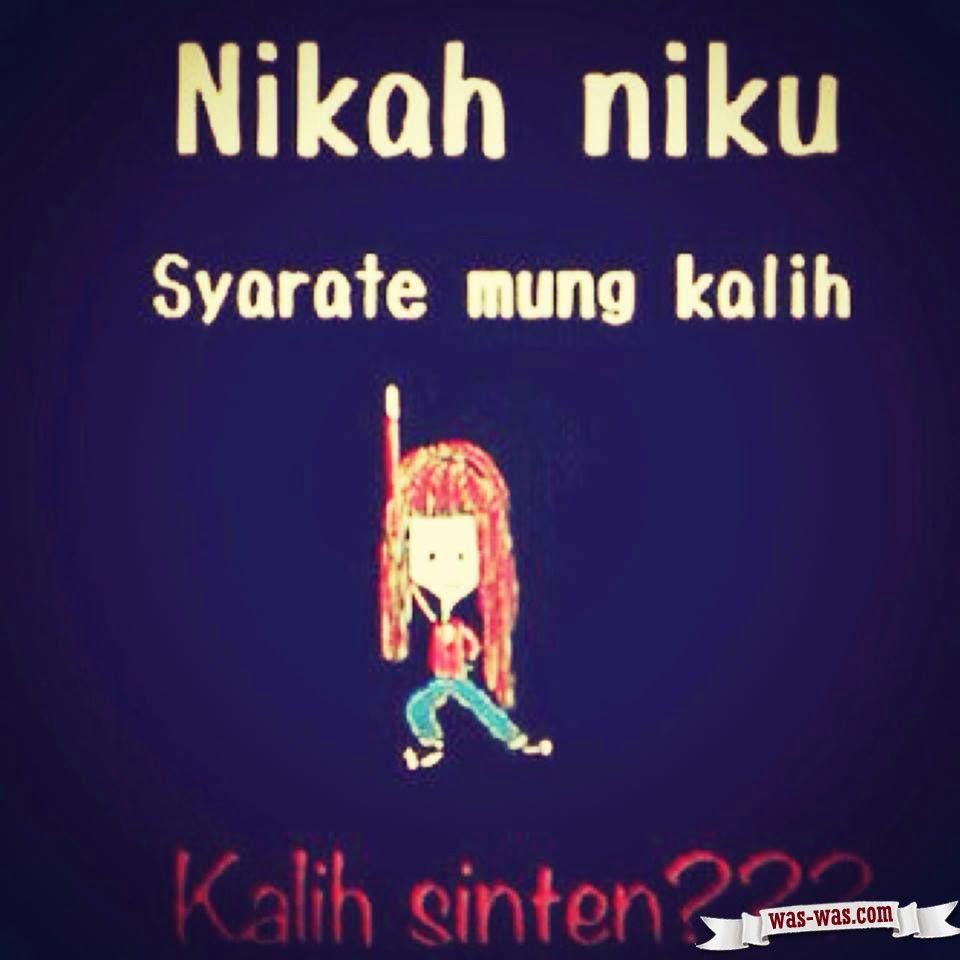 Gambar Kata Kata Lucu Bahasa Jawa