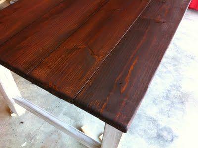 DIY Rustic Farmhouse Table (Finish)