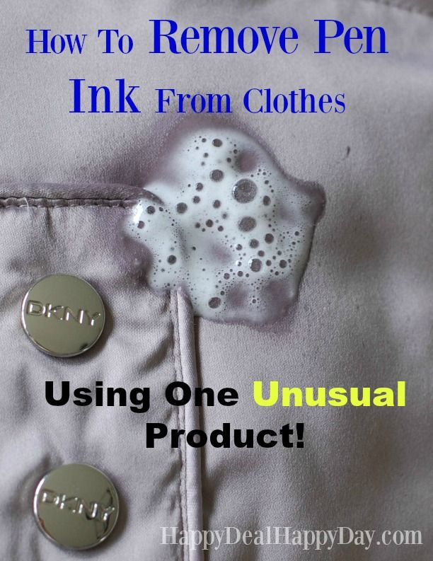 how to clean pen ink from clothes