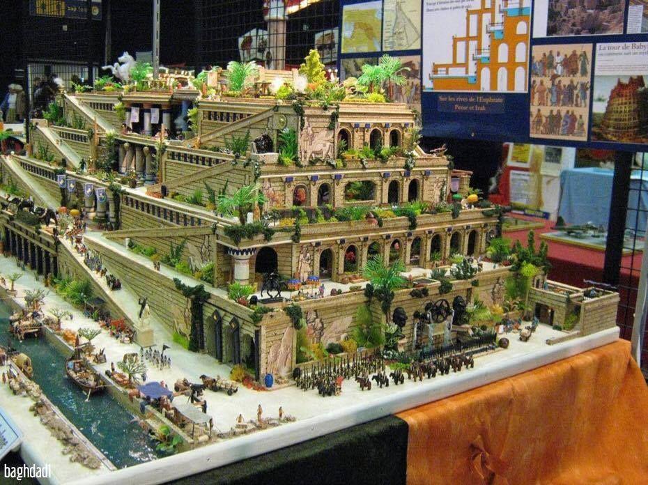 Building The Hanging Gardens Of Babylon In France Hanging Gardens Of Babylon Pinterest