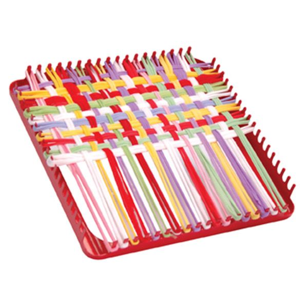Weave Your Own Pot Holders With This Metal Pot Holder Loom Loop Kit Measures 7 X 7 Inches For Children 5 Weaving Loom Crafts Loom Craft Loom Weaving