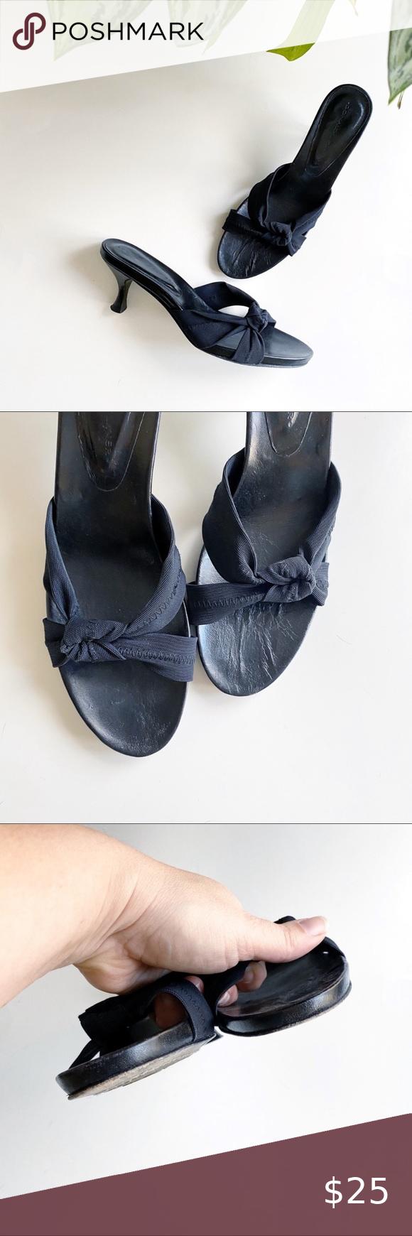 Donald J Pliner Fabric Knot Kitten Heel Sandals In 2020 Kitten Heel Sandals Kitten Heels Sandals Heels