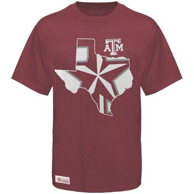 Majestic Texas A Aggies Inner State Premium T-Shirt - Maroon - Large