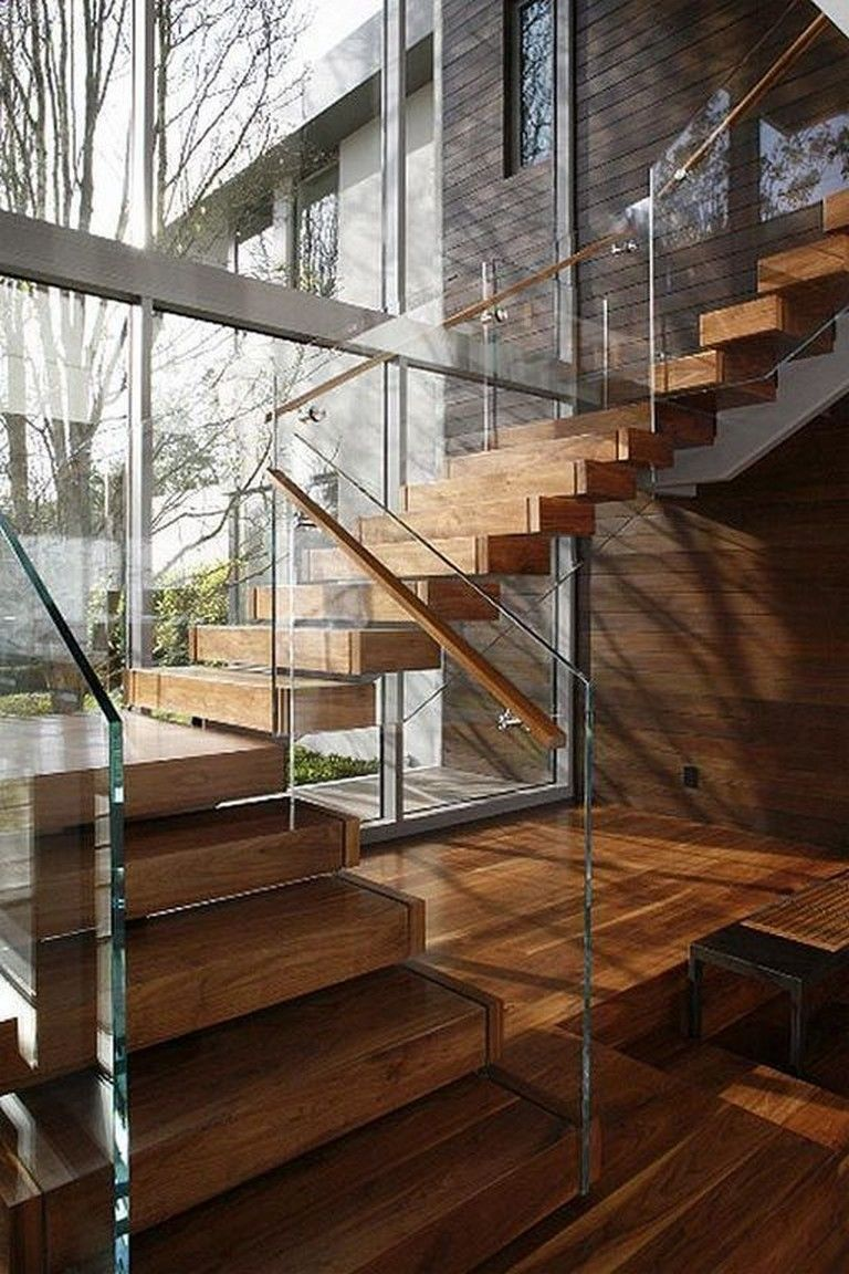 31 Luxury Modern Wooden Stairs Design Ideas Home Stairs Design Contemporary Stairs Stairs Design