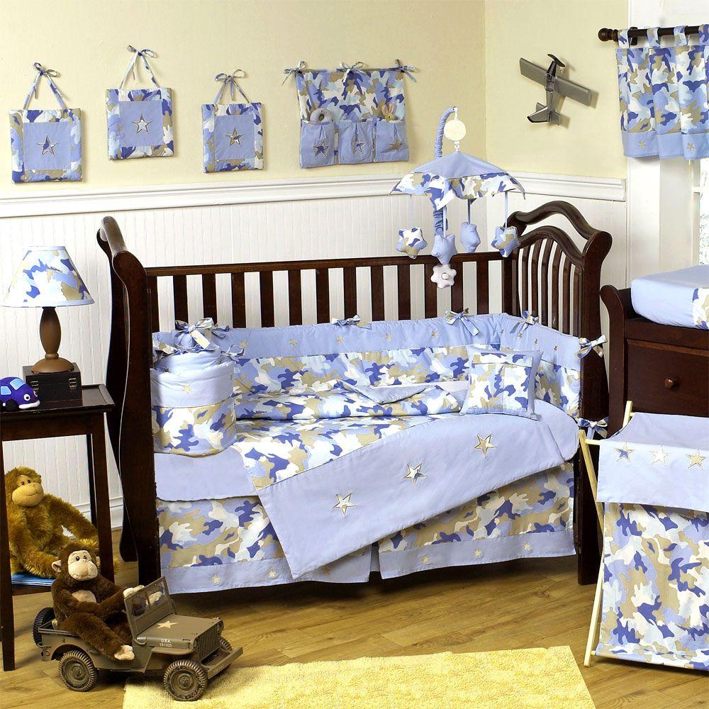 Camo Blue Baby Crib Bedding Set by JoJo Designs Crib