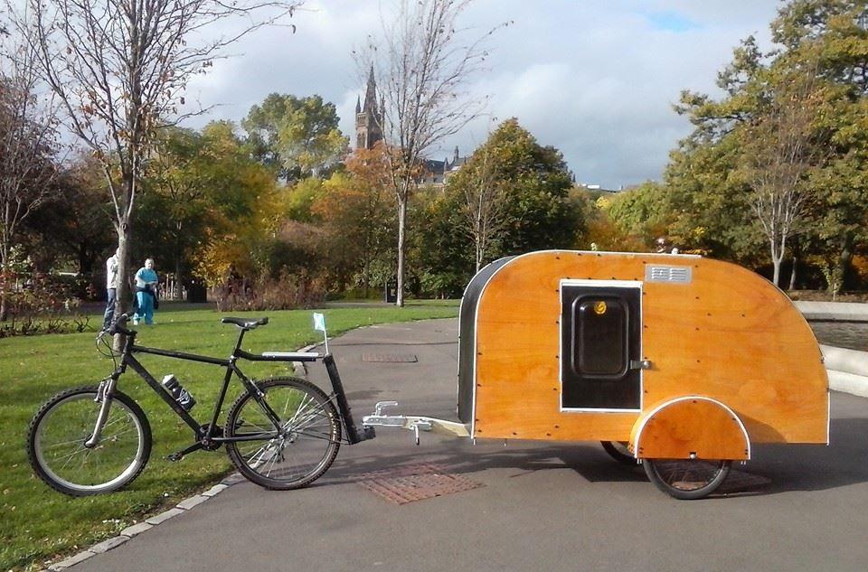 Velovan Bicycle Caravans Https Www Facebook Com Velovan Bicycle Caravans 1560220880876919 Timeline Bicycle Camping Small Camping Trailer Bike Trailer